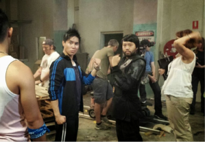 on set ABC2 TV series Maximum Choppage  as the character FURY with Lawrence Leung.